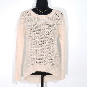 Vero Moda Peach Sweater Hi Lo Sheer Small